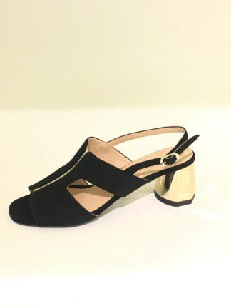Super bequeme Sandale schwarzes Nappaleder von Gianini & Ilani