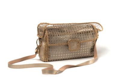 Sommer Tasche Netz in Gold