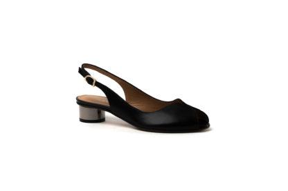Weiche Sandale in schwarz von MdF.