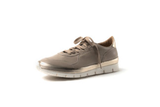 Sommersneaker mit weicher Sohle in nude/gold.