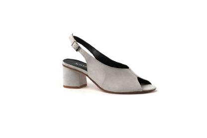 Sandale in grau aus Velour mit 3cm Absatz von R.F.