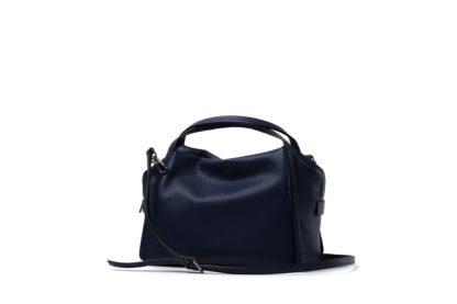 Citybag mit langem Riemen und Zip in blau.