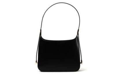 Handtasche in glattem Leder mit zipverschluß.