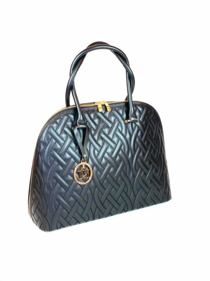 Nappa Stepp Tasche in schwarz von Valentino Orlandi 37x28 cm.