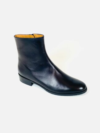 Stieflette aus Nappaleder in schwarz, sehr weich mit zarter Sohle von Moda di Fausto.