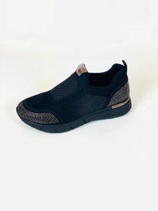 Sneaker in schwarz mit herausnehmbarer Sohle von Cinzia.